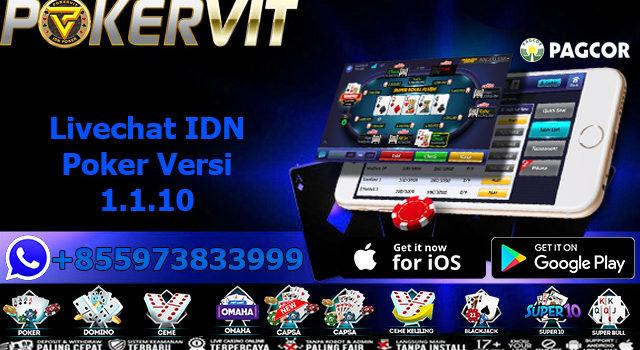 Livechat IDN Poker Versi 1.1.10
